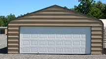 24 x 20 enclosure with 18 x 7 garage door.