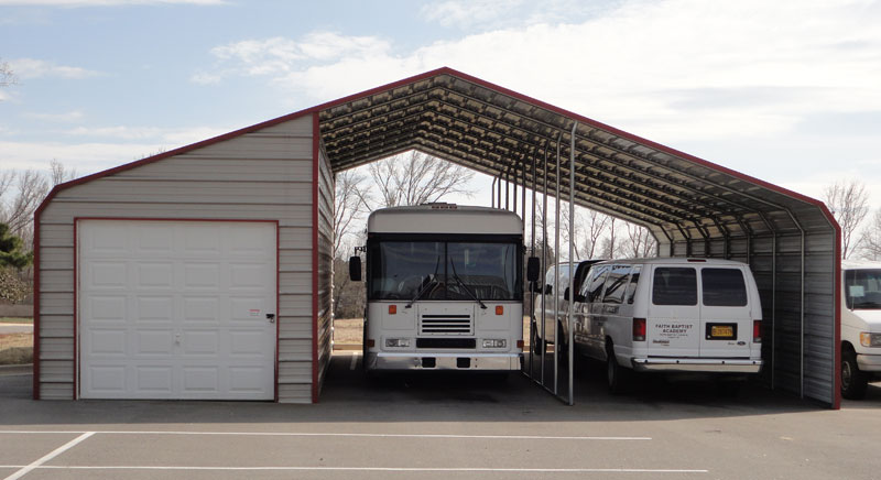 Jamar carports portable buildings for How tall is an rv garage door