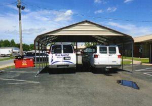 24 x 24 double wide carport for church vans.