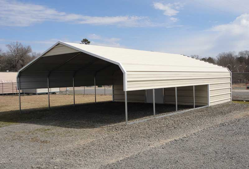21.5 x 30 carport & storage combination building.