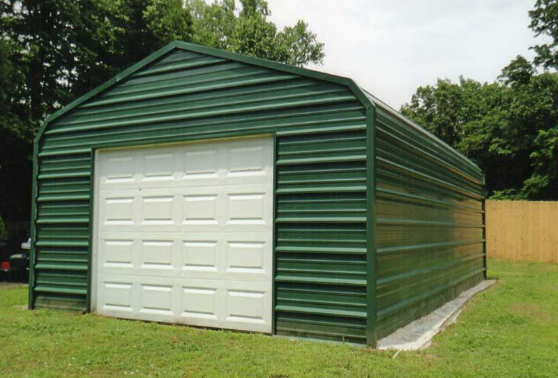 14 x 20 enclosure with 9 x 7 garage door.
