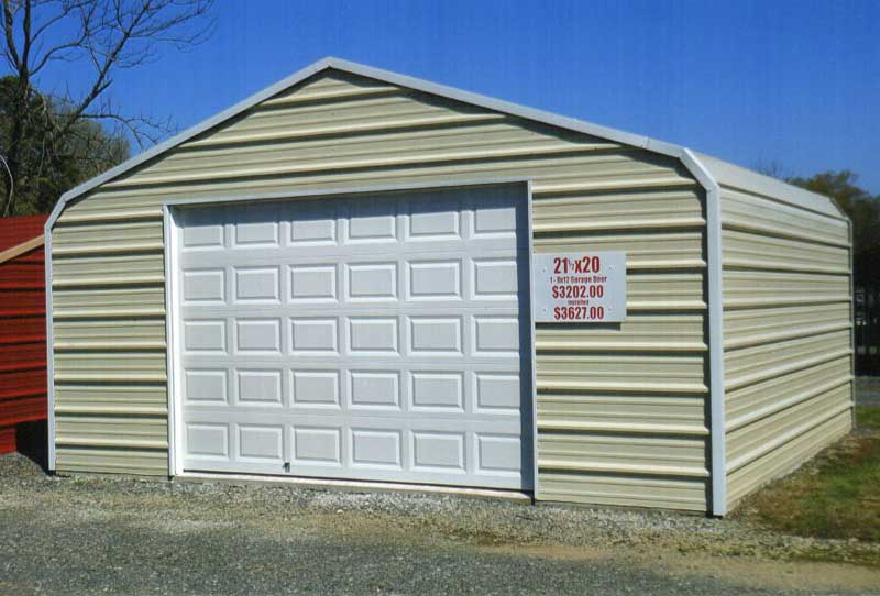 21.5 x 20 enclosure with 12 x 8 garage door.