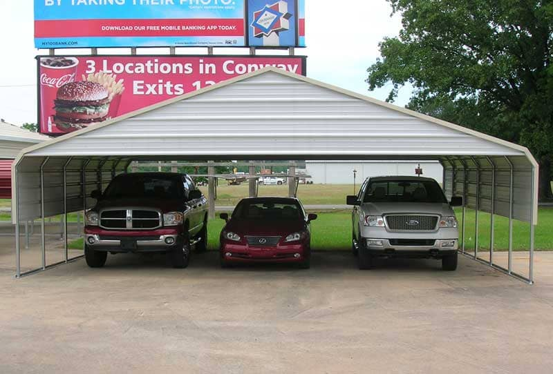 30 x 30 triple wide carport with crown & trim.